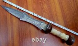16 Gladius Dagger Knife Handmade Damascus Steel Combat Tactical Hunting Knife