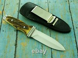 1977 A G Russell Germany Stag Sting Boot Dagger Dirk Knife Fixed Blade Ag Knives