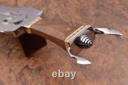 22 Ozair Custom Made D2 Steel Mirror Polish Roman Sword Dagger Blade Knife 8280