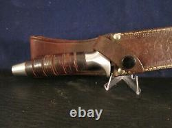 70's Valor 373 Long Commando knife, Seki. Japan Used with tobacco smell