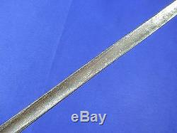Antique 19 Century French France rondel Triangle Blade Fighting Knife Dagger
