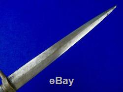 Antique 19 Century Spanish Spain Italy Italian Dagger Fighting Knife with Scabbard