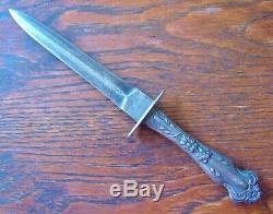 Antique Dagger Silver Handle Gamblers & Garter's Dirk Knife Beautiful