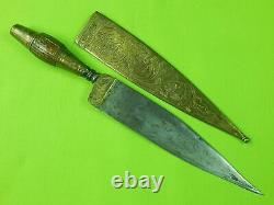 Antique Old Spanish Spain Italy Italian Fancy Dagger Fighting Knife with Scabbard