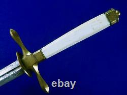 Antique US Pre Civil War 1820's Navy Officer's Dagger Fighting Knife with Scabbard