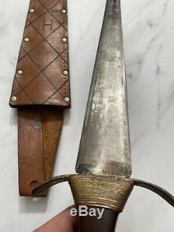 Antique WW2 Era British English Fighting Knife Dagger