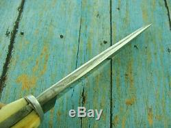 Antique Ww 2 Hartenau German Stag Boot Fighting Bowie Youth Dagger Knife Knives