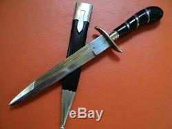 Antique german dagger knife herder abr sohn solingen 1920 pre ww2 war excellent