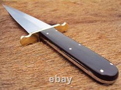 Arc Cutlery Custom Made Hunting Dagger D2 Tool Steel Bull Horn Knife With Sheath