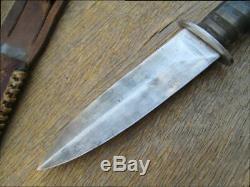 BEAUTIFUL Old Korean War-era HEFTY Theater-made Trench Art Dagger Fighting Knife