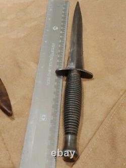 BLACK DEVIL CANADA-USA MODERN STYLE of WWII COMMANDO DAGGER KNIFE 1970s WW2