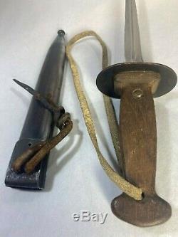 Belgian WW1 trench dagger Sanderson Brothers & Newbould fighting knife MINT
