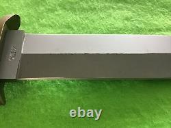 Boker Applegate-Fairbairn Fixed Knife 6 440C Steel Blade Black Delrin Handle