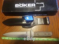 Boker Plus Schanz Stutensee Dagger Knife with original Sheath 2656 440-C