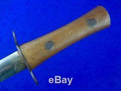 British English WWI WW1 Stiletto Fighting Knife Dagger with Sheath