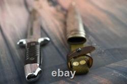 Bulgarian German Combat Trench Fighting Knife Remake Dagger & Metal Scabbard K98