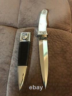 Buster Warenski Custom Engraved Art Dagger Knife-one-of-a-kind! Loveless Era