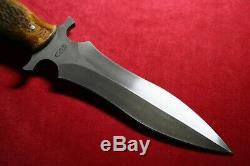CAS Knives Custom Dagger Stag Knife Dark Timber Brother Claudio Sobral NEW