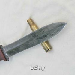 CASE XX Pig Sticker WW2 fighting knife dual-edge dagger, orig sheath rare type