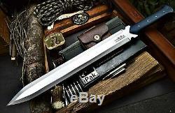 CFK IPAK Handmade D2 Custom 25 VIKING-MAXIMUS Battle-Ready Dagger Sword Knife