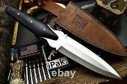 CFK IPAK Handmade D2 Custom COMMANDO Tactical Combat Fighter Dagger Blade Knife