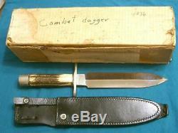 Custom Ernie Lyle Stag Commando Combat Dirk Dagger Stiletto Survival Bowie Knife