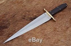 Custom Hand Made D2 Steel Hunting Knife Arkansas Toothpick Dagger Sword Mi-21