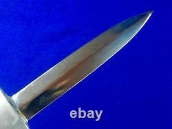 Custom Hand Made John Nelson J. N. COOPER Double Edged Fighting Knife Dagger