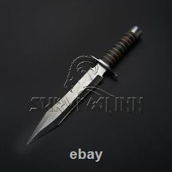 Custom Handmade D2 Steel Gladius Dagger Knife, Huning Dagger With Leather Sheath