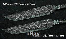 Custom Premium Mosaic damascus blank blade knife