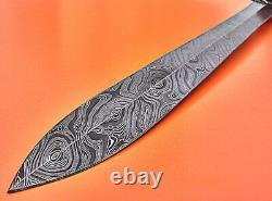 Damascus Sword Custom Hand Made Damascus Steel Hunting Dagger Sword Knife 1719