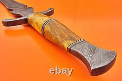 Damascus Sword Custom Hand Made Damascus Steel Hunting Dagger Sword Knife 1721