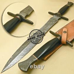 Damascus Sword Custom Hand Made Damascus Steel Hunting Dagger Sword Knife 970