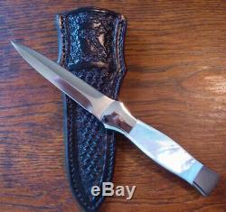 Don Losier Custom Dagger Genuine Mother Of Pearl Fighter Boot Knife Knive