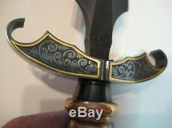 Doug Casteel Custom art knife Custom fantasy dagger Damascus with sheath