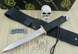 EK Commando Knives Vintage Collector PB-3 Dagger Fighter Original Black Sheath