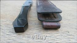 FINEST Vintage Custom Cutler HOOT Gambler/Prostitute's Carbon Steel Dagger Knife