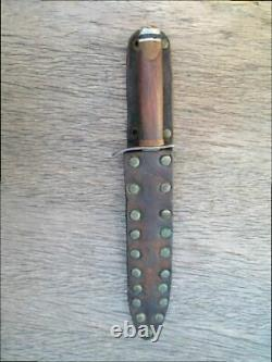 Fine Old Vietnam War-Era Theater-Made Carbon Steel Dagger Boot or Fighting Knife