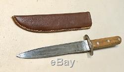 Genuine WW1 WW2 German Paratrooper Fighting Boot/Trench Dagger Knife WithSheath