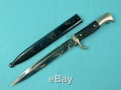 German Germany WW2 Klaas Solingen Dress Dagger Fighting Knife with Scabbard
