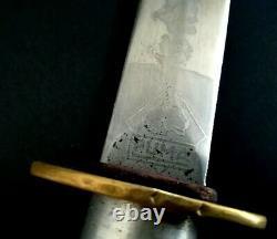 German Trench Boot Combat Knife Dagger PUMA Solingen Etched Blade Rare DAK