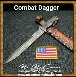 Hand Made 1095 Combat Dagger Knife By Mark Mccoun
