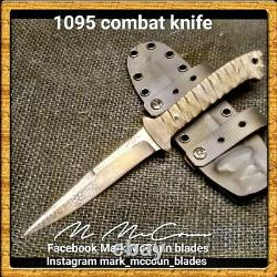 Hand Made 1095 Combat Dagger Knife By Mark Mccoun #32