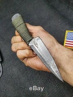 Hand Made 1095 Cross Draw Dagger Knife #a By Mark Mccoun