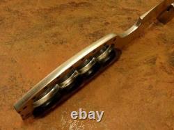 Hunting -Custom Handmade Carbon Steel Hunting Knife & Sheath Buffalo Horn Handle