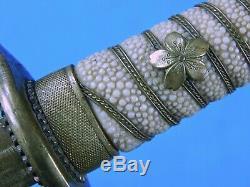 Japanese Japan WW2 Navy Naval Officer's Dagger Tanto Fighting Knife & Scabbard