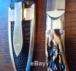 Jim Ence Custom Gambler Dagger Dirk Fighter Knive Stiletto Knife Stunning