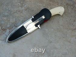 Jim Ence Handmade Fighting Boot Knife Dagger. Warenski Influence Original Sheath
