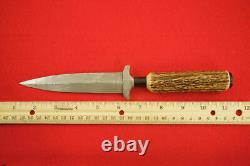 KERSHAW LIMITED EDITION 1986 DAMASCUS DOUBLE EDGE DAGGER KNIFE WithSHEATH MINT #28