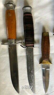 LOT 6 Knives with Sheath 2 Honing SteelMora Sweden Taico Japan Pakistan Dagger